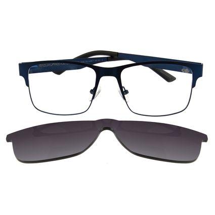 Armação Para Óculos de Grau Masculino Chilli Beans Multi Retangular Azul LV.MU.0109-2008.6