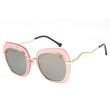 Óculos de Sol Feminino Chilli Beans Quadrado Fashion Dourado OC.MT.2472-1621
