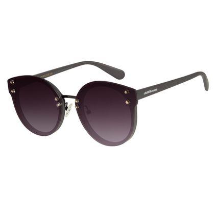 Óculos De Sol Feminino Chilli Beans Redondo Cinza Escuro OC.CL.2561-2028