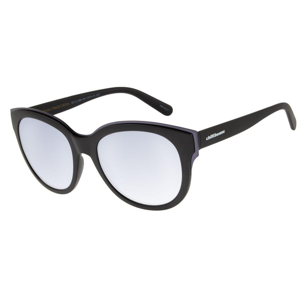 07661def9b60e Óculos de Sol Feminino Chilli Beans Preto 2564 - OC.CL.2564.0001 M.  OC.CL.2564.0001