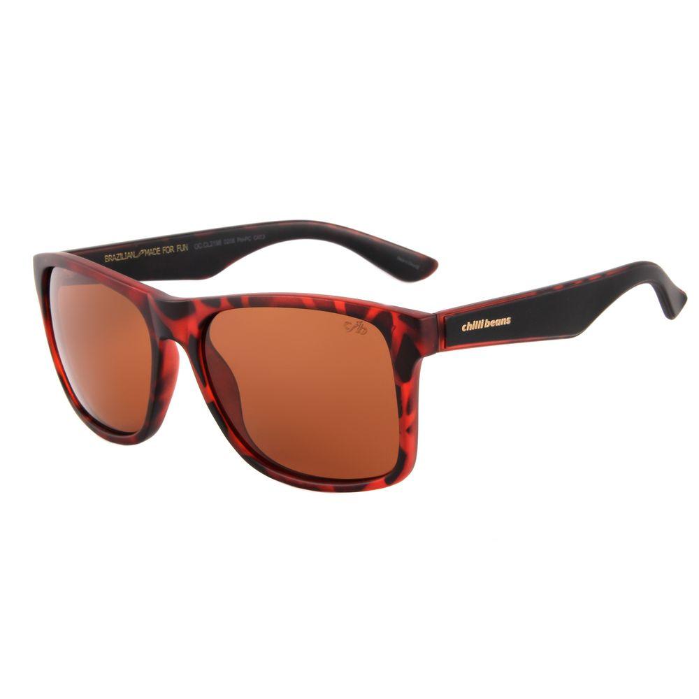 Óculos de Sol Unissex Chilli Beans Tartaruga 2198 - OC.CL.2198.0206 G.  OC.CL.2198.0206 ecaee6aa9b