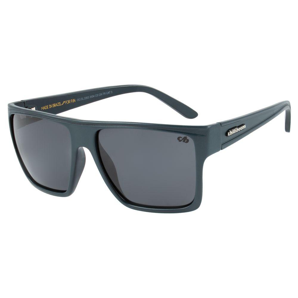 Óculos de Sol Unissex Polarizado Chilli Beans Cinza Essential OC.CL.2203-3504
