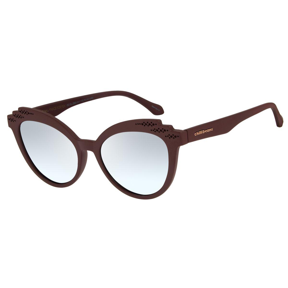 d61a5229b Óculos de Sol Feminino Chilli Beans Vinho 2563 - OC.CL.2563.0017 M. REF:  OC.CL.2563.0017. OC.