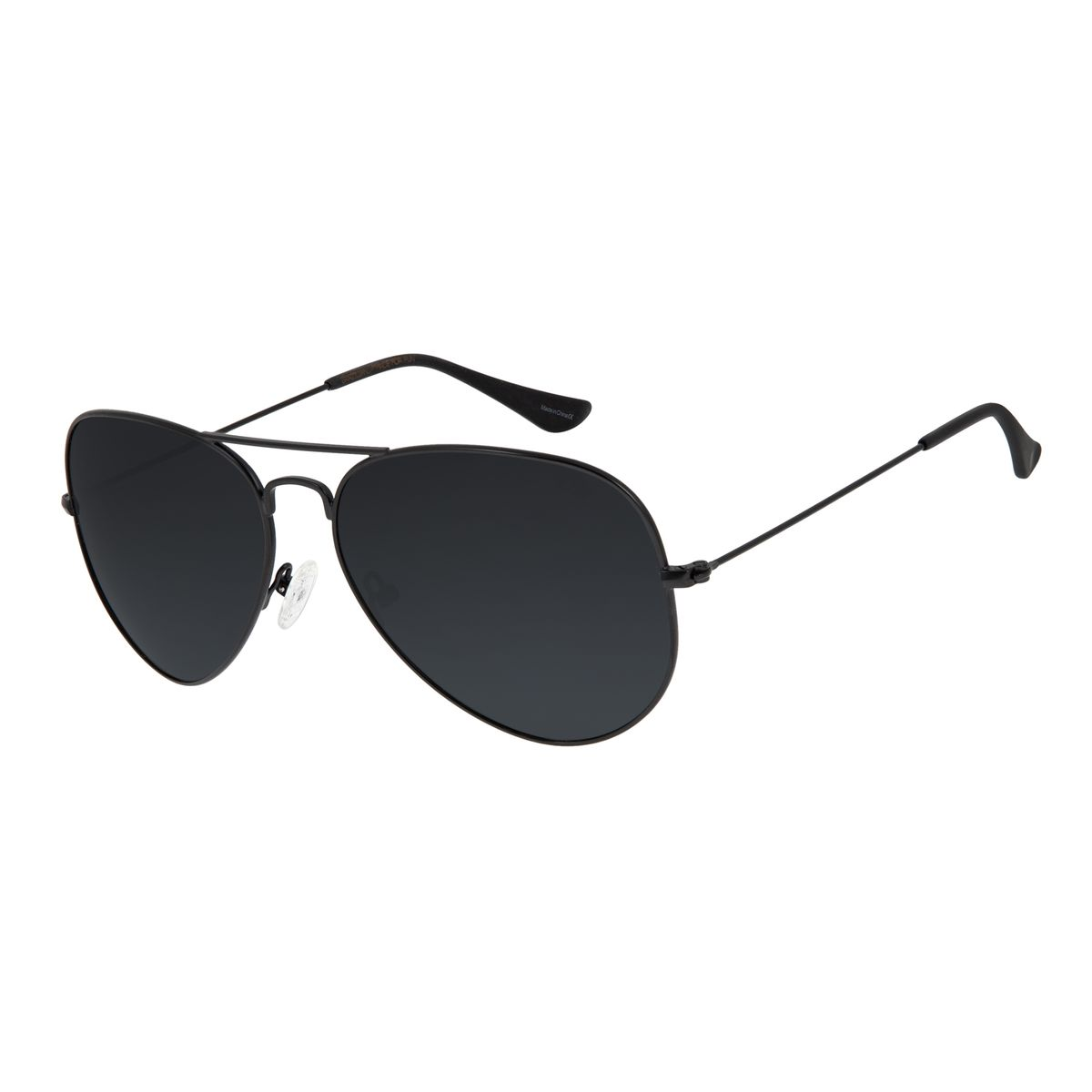5b934daba609d Óculos de Sol Chilli Beans Aviador Unissex Preto Polarizado 2516 ...