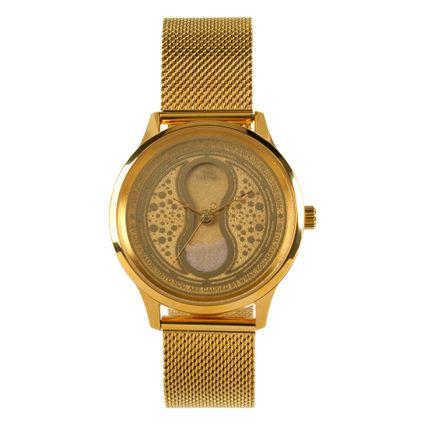 Relógio Analógico Feminino Harry Potter Vira-Tempo Dourado RE.MT.0757-2121