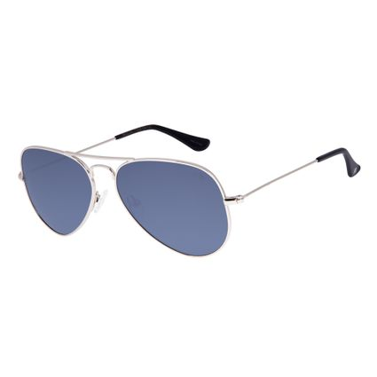 Óculos de Sol Unissex Chilli Beans Aviador Essential Prata OC.MT.2512-0007