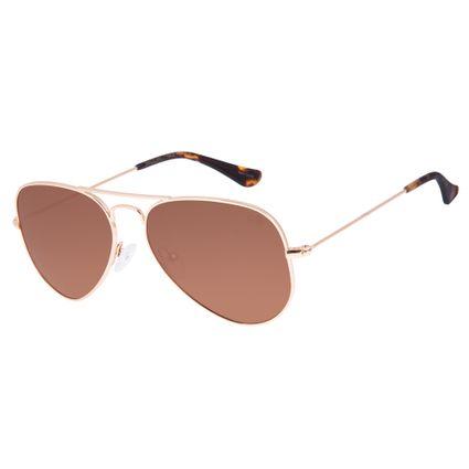Óculos De Sol Chilli Beans Unissex Polarizado Aviador MarromOC.MT.2512-0221