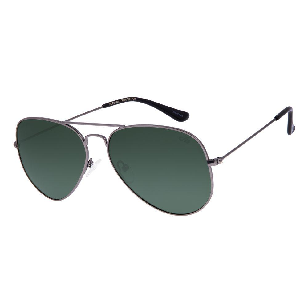 Óculos de Sol Unissex Chilli Beans Aviador Polarizado Verde OC.MT.2514-1522