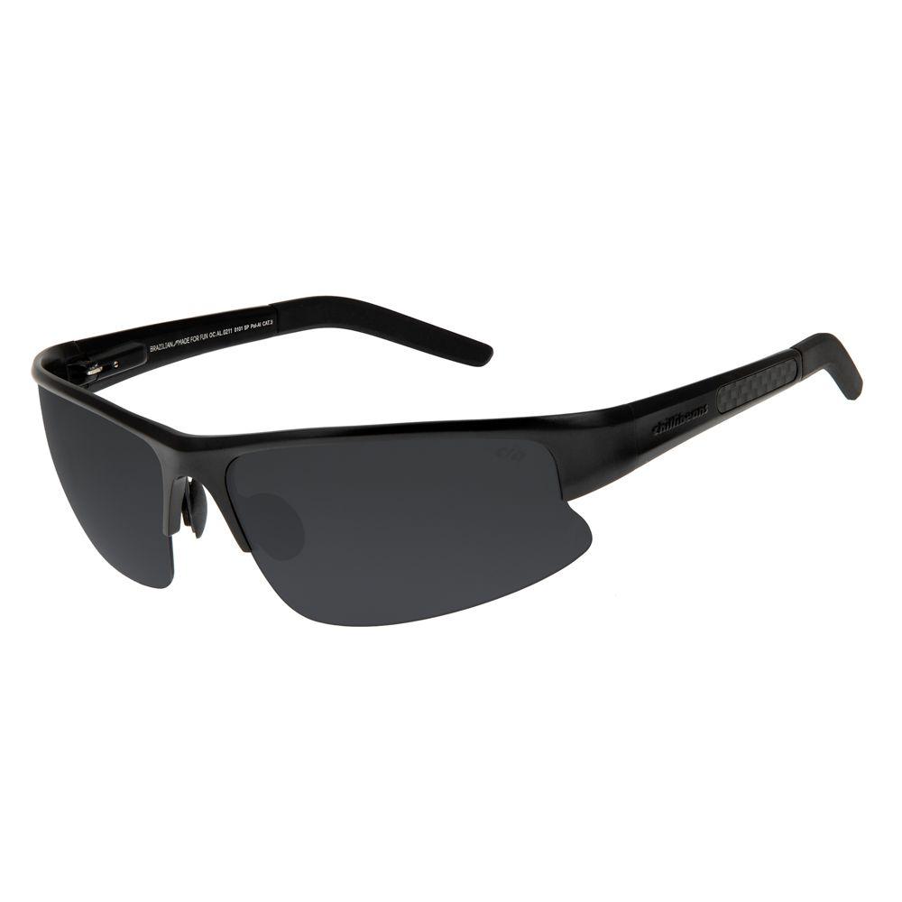61f30b5853463 Óculos de Sol Chilli Beans Esportivo Masculino Polarizado Preto 0211 ...