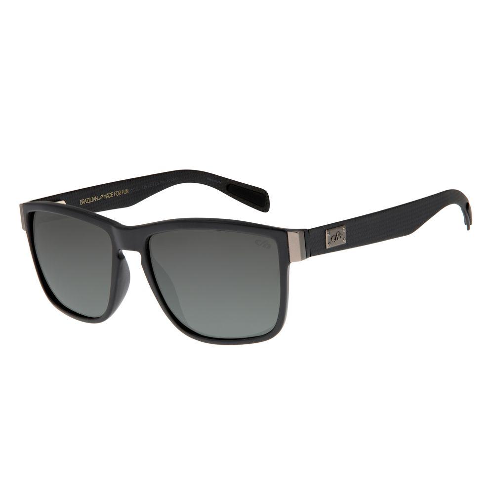 Óculos de Sol Masculino Chilli Beans Essential Quadrado Cinza Escuro Polarizado OC.CL.1539-0028