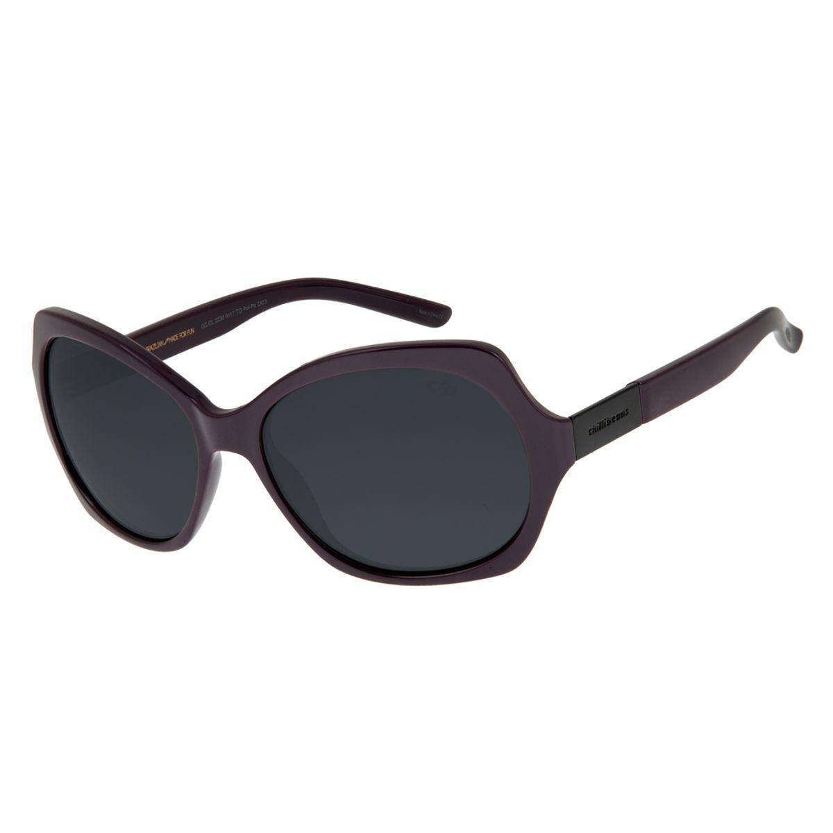 9393da747 Óculos de Sol Chilli Beans Feminino Quadrado Vinho Polarizado 0117 -  OC.CL.2230.0117. REF: OC.CL.2230.0117. OC.