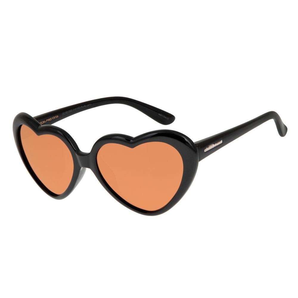 d37b7ddfb Óculos de Sol Coração Infantil Chilli Beans Marrom 0593 - OC.KD.0593.2101 P