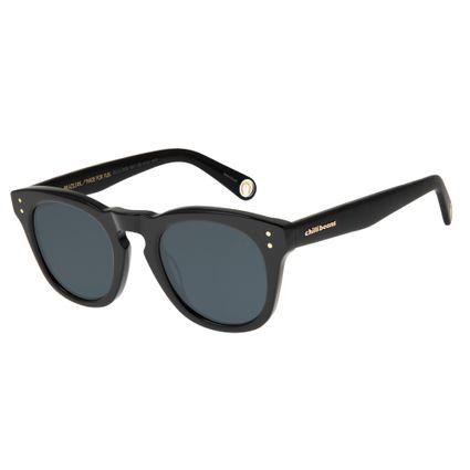 Óculos de Sol Unissex Boto Fé Ferradura Quadrado Preto OC.CL.2638-0001