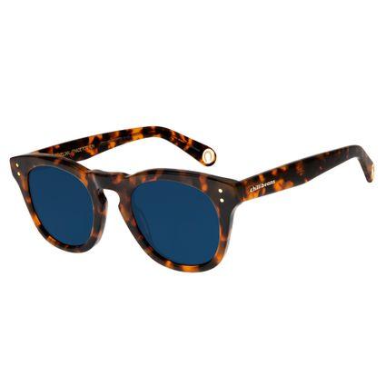 Óculos de Sol Unissex Boto Fé Ferradura Quadrado Azul Escuro OC.CL.2638-9006