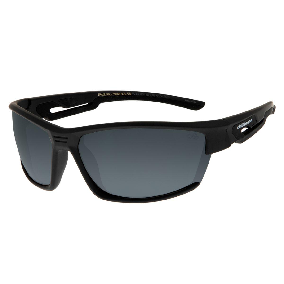 1bea62131 Óculos de Sol Masculino Esportivo Chilli Beans Preto 1158 - OC.ES.1158.3201  M. REF: OC.ES.1158.3201. OC.