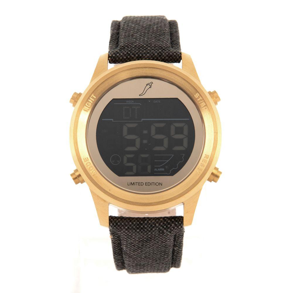 Relógio Digital Masculino Chilli Beans Redondo Dourado RE.CR.0321-2123