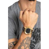 Relógio Digital Masculino Chilli Beans Redondo Dourado RE.CR.0321-2123.4