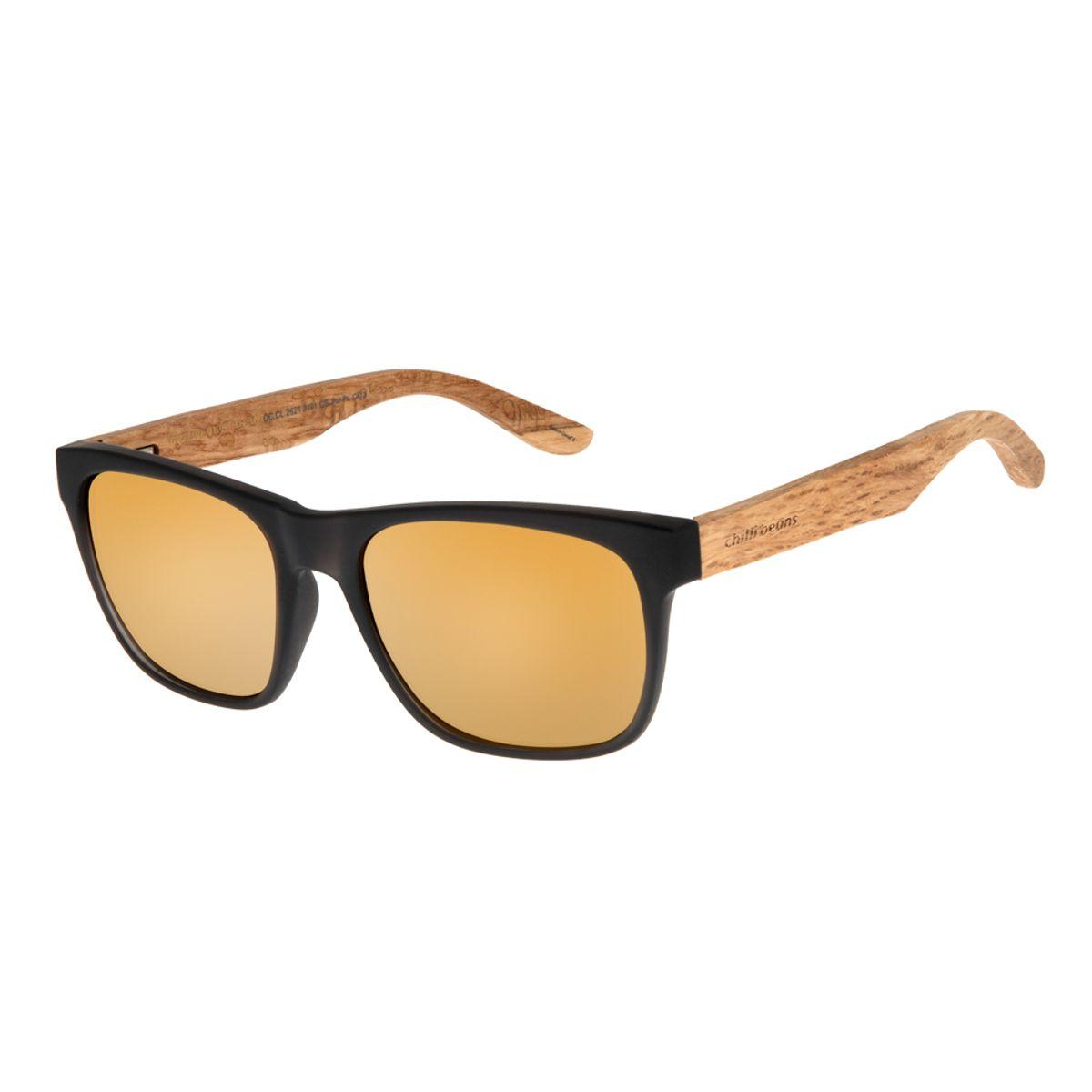 956f655d2 Óculos de Sol Masculino Chilli Beans Preto Polarizado 2621 -  OC.CL.2621.2101 M. REF: OC.CL.2621.2101. OC.
