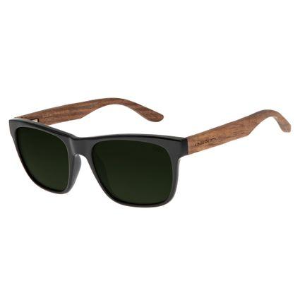 2ce0f4511cfe1 Óculos de Sol Chilli Beans Masculino Haste de Madeira Preto Polarizado 2621