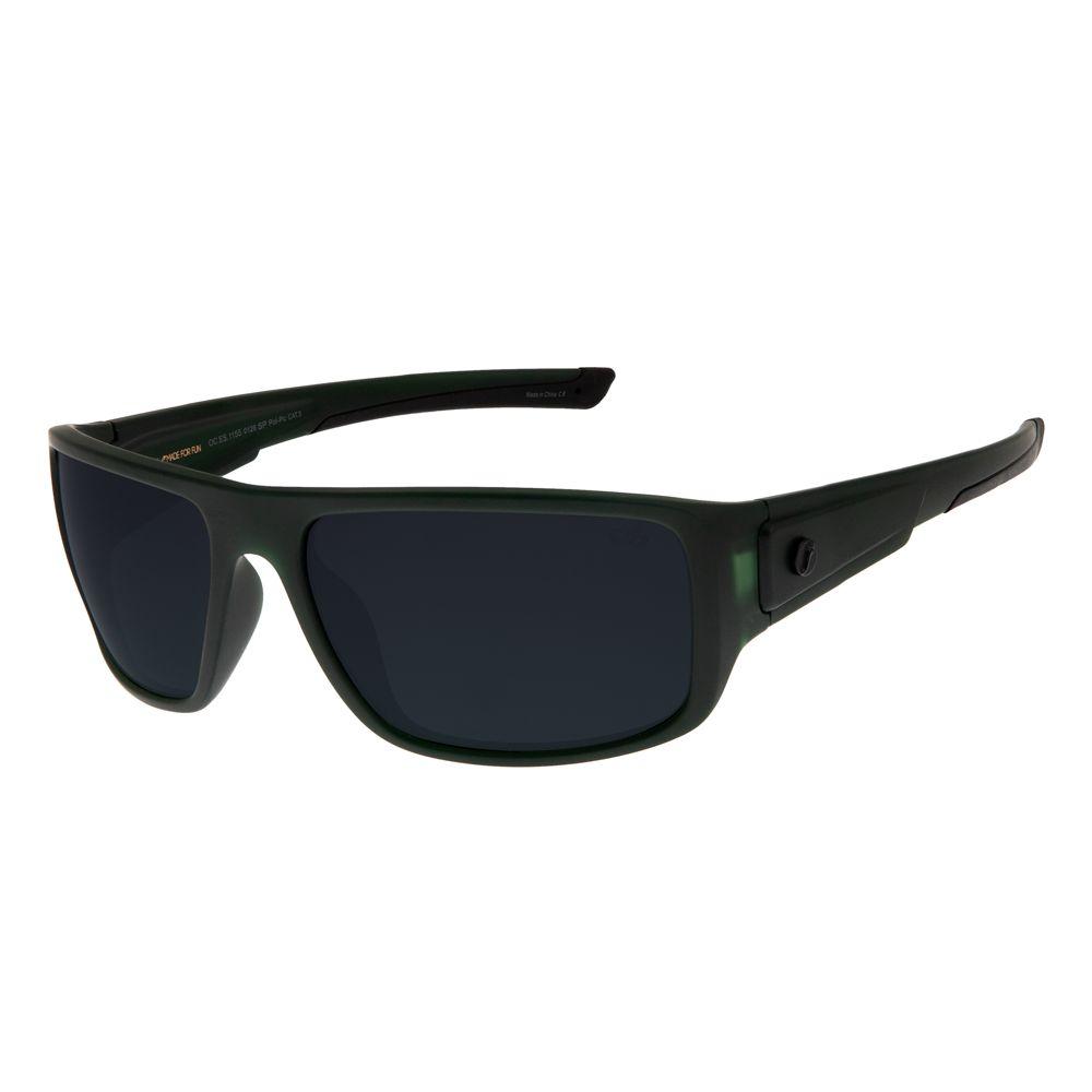 Óculos de Sol Masculino Chilli Beans Esporte Polarizado Verde Escuro OC.ES.1155-0126