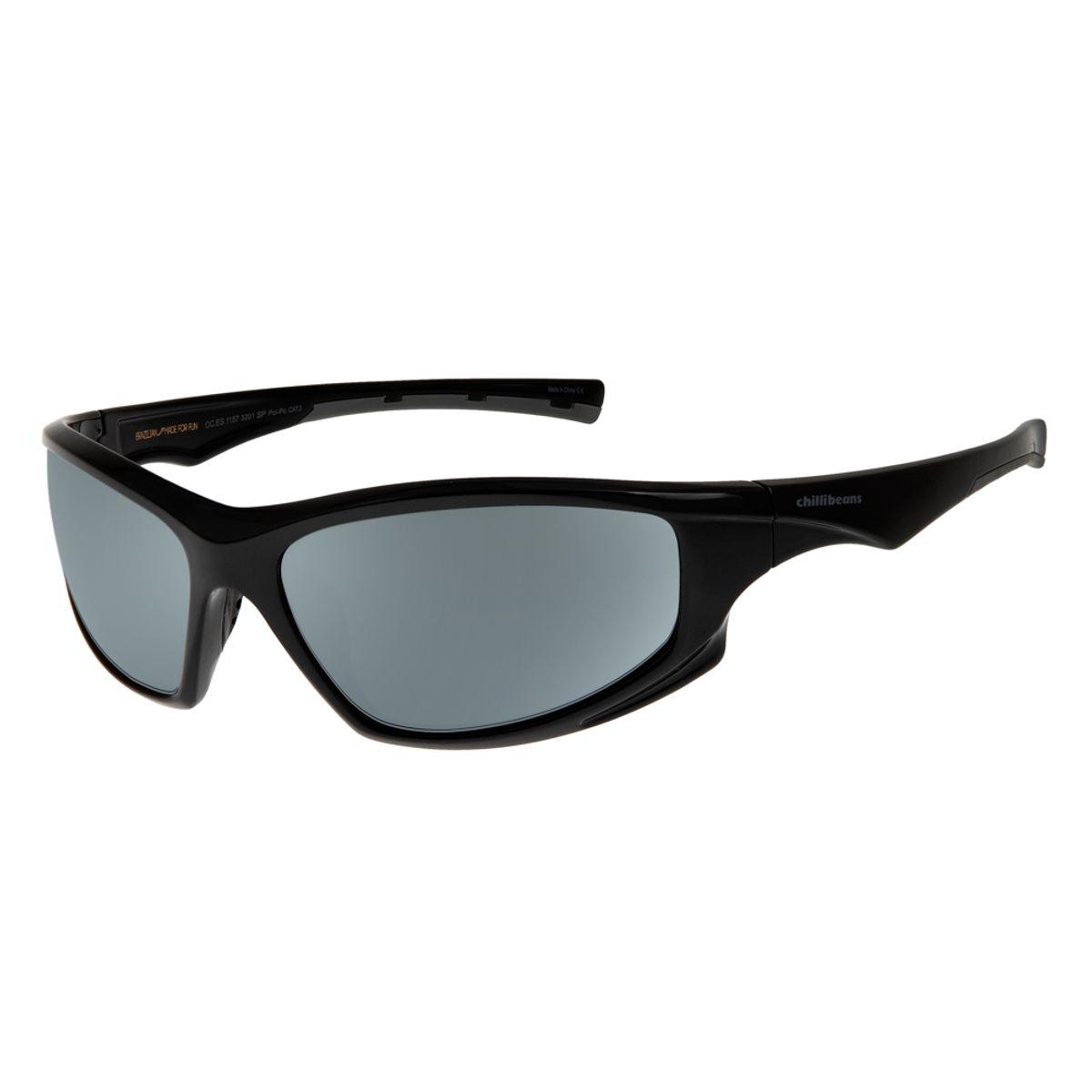 65f142439 Óculos de Sol Masculino Chilli Beans Preto 1157 - OC.ES.1157.3201 G. REF:  OC.ES.1157.3201. OC.