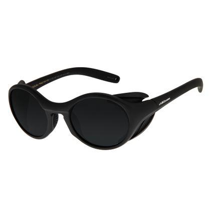 Óculos de Sol Unissex Chilli Beans Redondo Bamboo Preto OC.ES.1167-0401