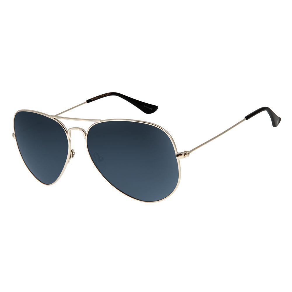 Óculos de Sol Unissex Chilli Beans Aviador Polarizado Prata OC.MT.2516-0007