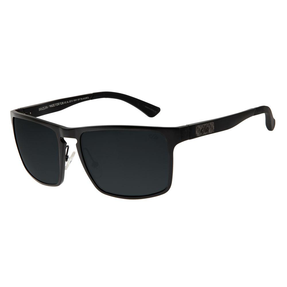 Óculos de Sol Masculino Chilli Beans Esportivo Preto Polarizado OC.AL.0213-0001