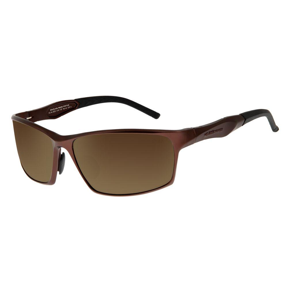 Óculos de Sol Masculino Chilli Beans Performance Marrom Escuro Polarizado OC.AL.0223-2147