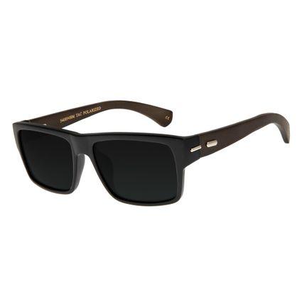Óculos de Sol Unissex Chilli Beans Preto Polarizado OC.CL.2675-0101