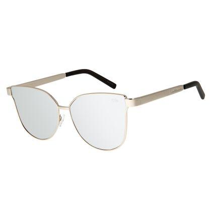fe02cd57e270e Óculos de Sol Feminino Chilli Beans Prata 2571
