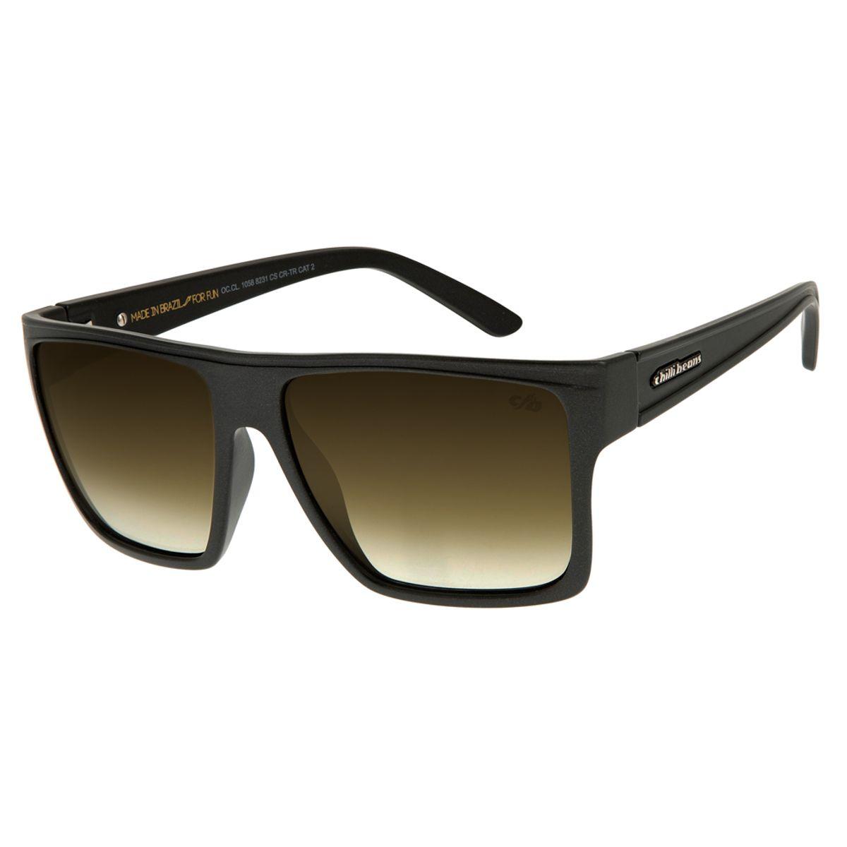925a3cad7 Óculos de Sol Unissex Chilli Beans Preto 1058 - OC.CL.1058.8231 M. REF:  OC.CL.1058.8231. OC.