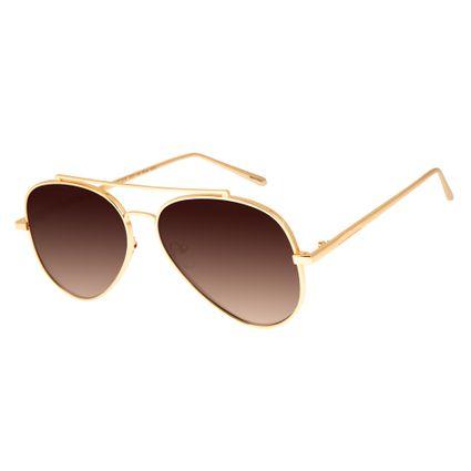 Óculos de Sol Feminino Chilli Beans Dourado 2575 64569c59fa