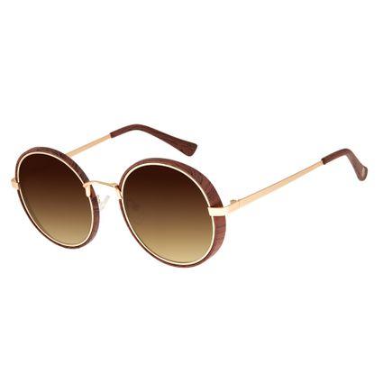 Óculos de Sol Unissex Chilli Beans Marrom Escuro Bamboo OC.MT.2604-2047