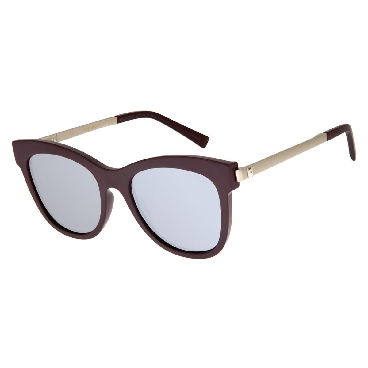 018af114e Óculos de Sol Feminino Chilli Beans Vinho 2614 - OC.CL.2614.0017 M. REF:  OC.CL.2614.0017. OC.