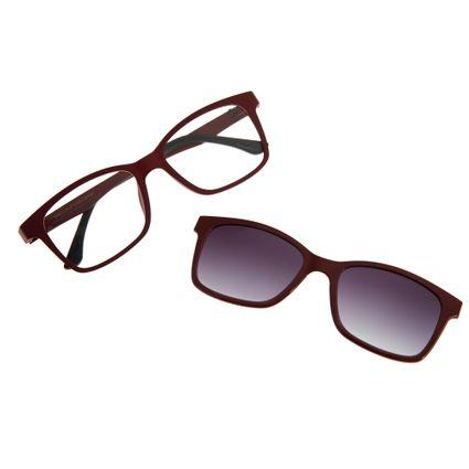 Armação Para Óculos De Grau Unissex Chilli Beans Multi Vinho LV.MU.0026-2017