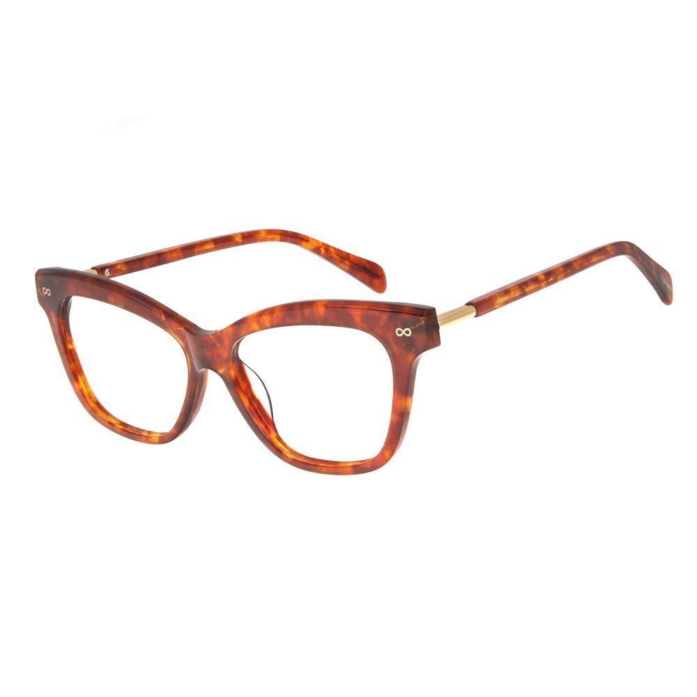 Armação Para Óculos de Grau Chilli Beans Infinito Tartaruga Dourado LV.AC.0516-0621