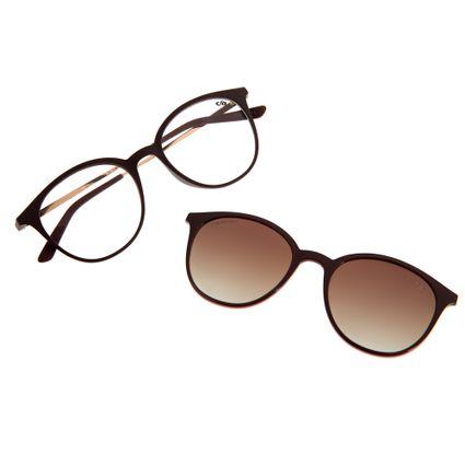 Armação Para Óculos de Grau Unissex Chilli Beans Multi Vinho LV.MU.0146-2017