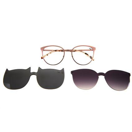 d4b175a822f5c Armação para Óculos de Grau Chilli Beans Multi 2 em 1 Gatinho Rosé 0161