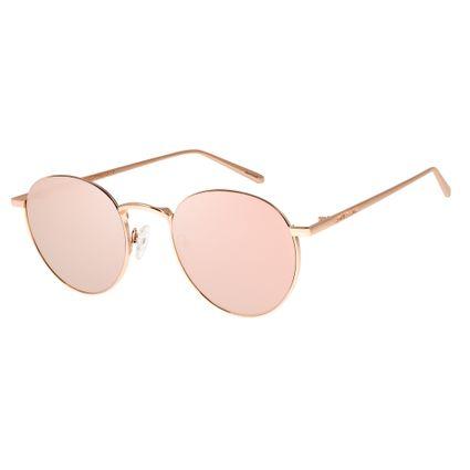 Óculos de Sol Feminino Chilli Beans Rose Banhado A Ouro. T.2590-9595