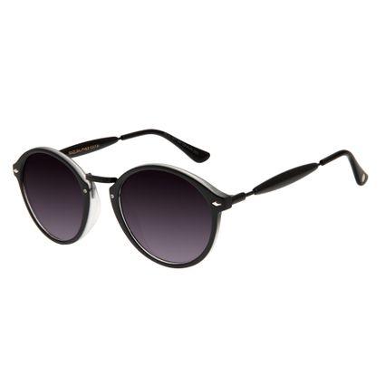 Óculos De Sol Unissex Chilli Beans Retrô Essential Redondo Preto OC.CL.1677-2001