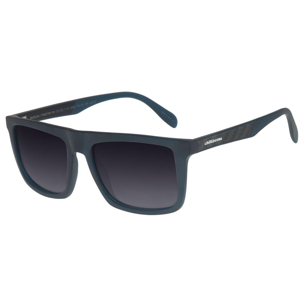2bbf2e0ae Óculos de Sol Esportivo Masculino Chilli Beans Azul Polarizado 1172 -  OC.ES.1172.2090 M. REF: OC.ES.1172.2090. OC.