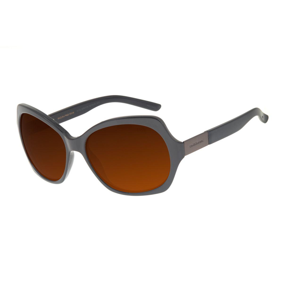 e5ffd0c53 Óculos de Sol Chilli Beans Feminino Quadrado Marrom Polarizado 2102 -  OC.CL.2230.2102. REF: OC.CL.2230.2102. OC.