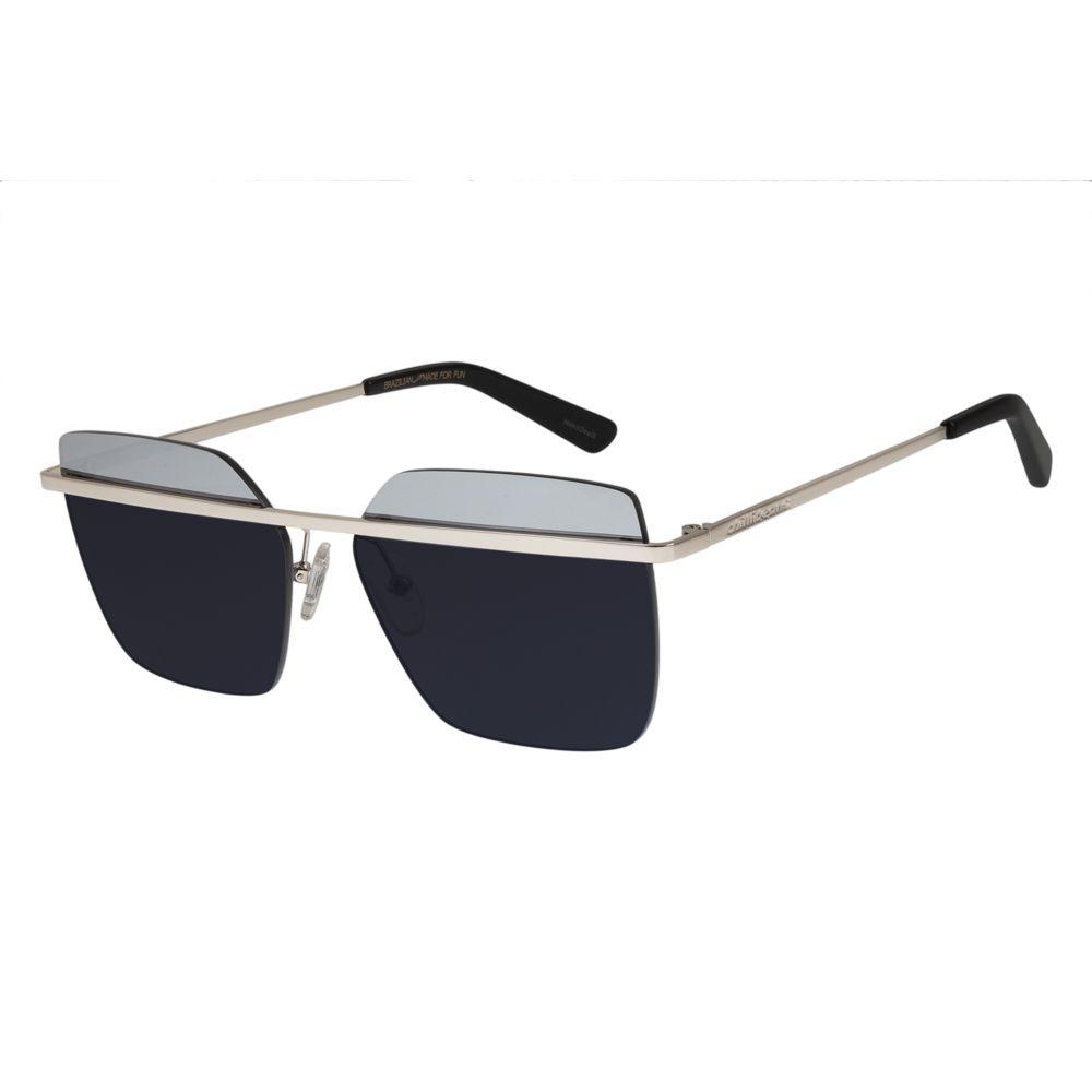 07f355ac5 Óculos de Sol Chilli Beans Feminino Quadrado Bicolor Prata 0407 -  OC.MT.2569.0407 M