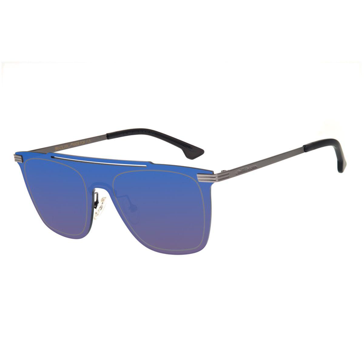 7b9a02558 Óculos de Sol Chilli Beans Masculino Máscara Espelhado Azul - Chilli ...