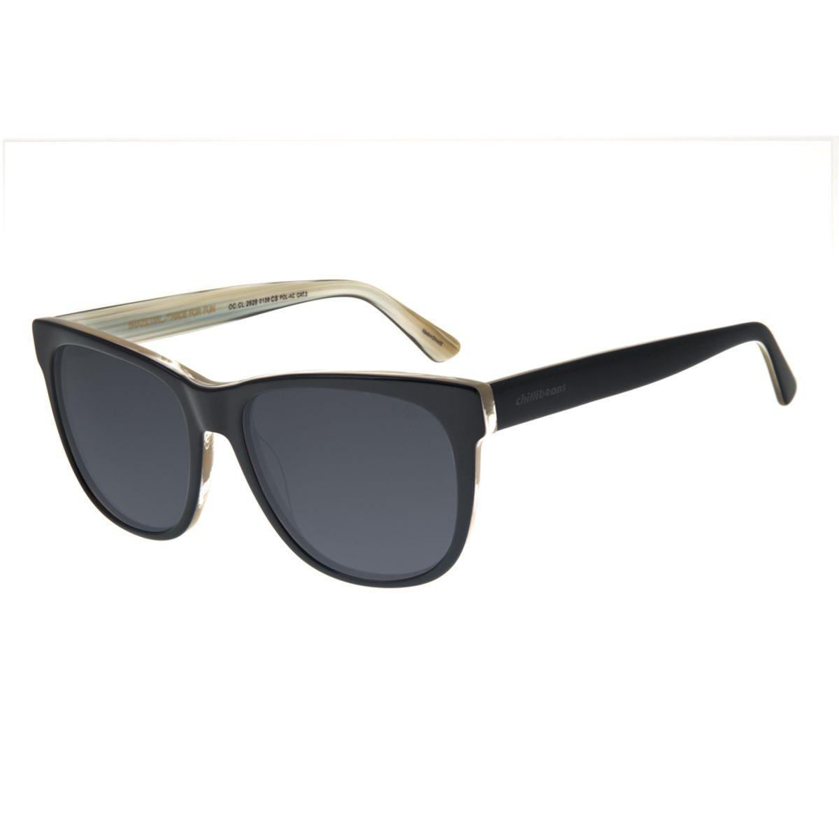 596f422451450 Óculos de Sol Chilli Beans Feminino Retrô Polarizado Preto - Chilli ...
