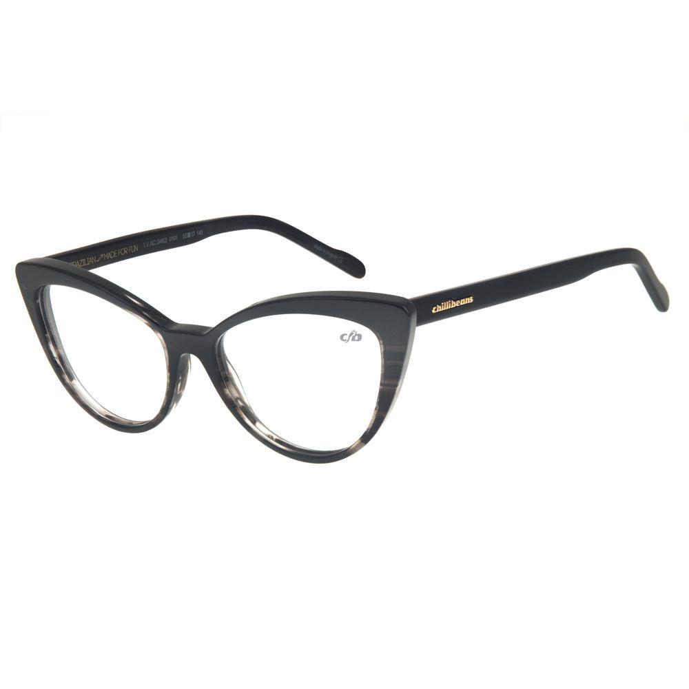 a34b00ded Armação para Óculos de Grau Chilli Beans Gatinho Feminino Preto -  LV.AC.0462.0101 M