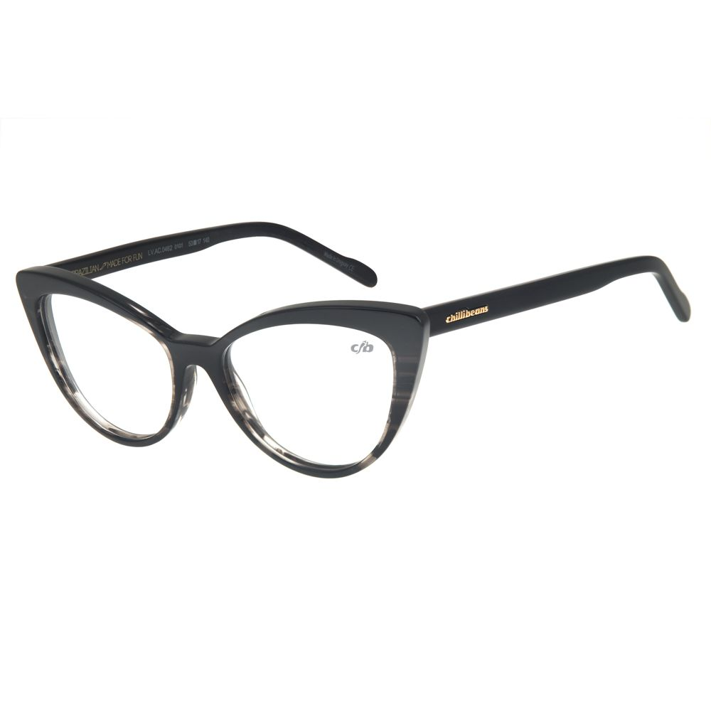 Armação para Óculos de Grau Feminino Chilli Beans Gatinho Preto LV.AC.0462-0101