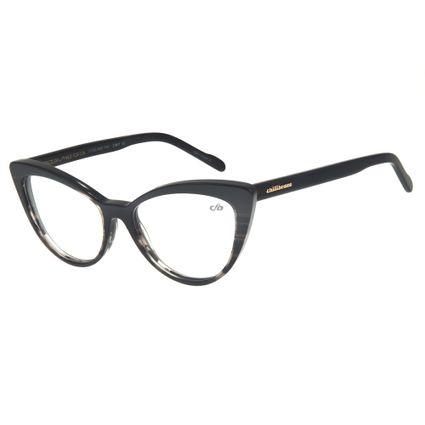 LV.AC.0462-0101. Armação para Óculos de Grau Chilli Beans Gatinho Feminino  Preto. ARMAÇÕES PARA ÓCULOS DE GRAU b847db76dd