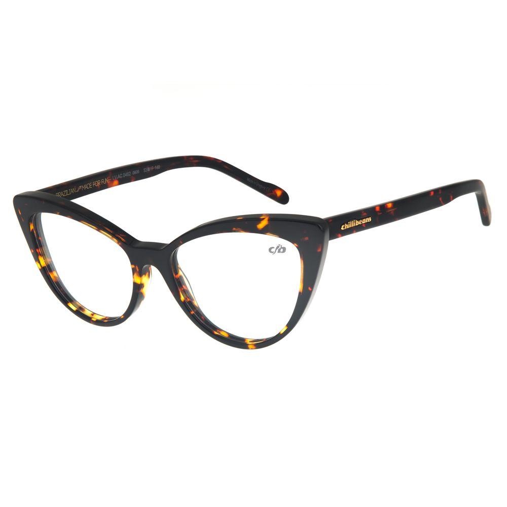 Armação Para Óculos de Grau Feminino Chilli Beans Gatinho Tartaruga LV.AC.0462-0606